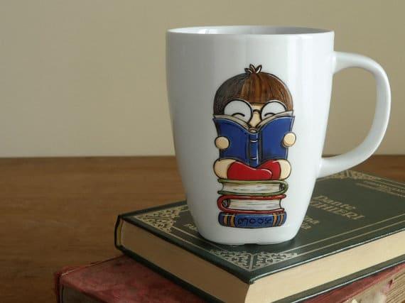 Tazza con libri