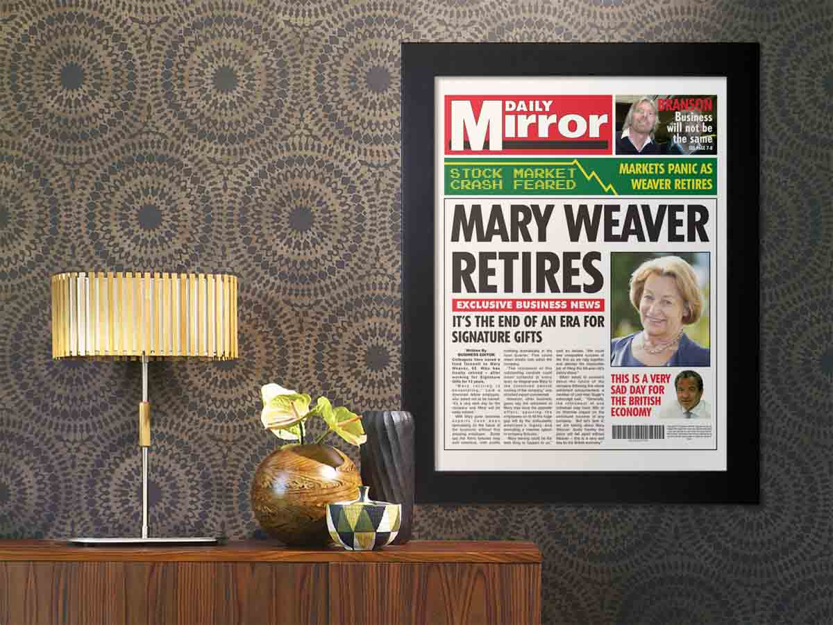 pensionamento-giornale-personalizzato