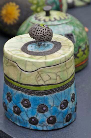 contenitori in ceramica raku