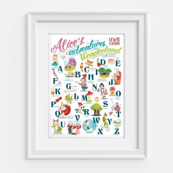 poster di alice nelle meraviglie illustrato