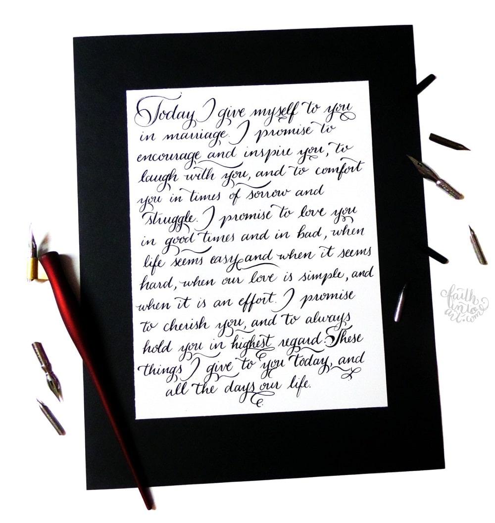 Lettera personalizzata in bella calligrafia