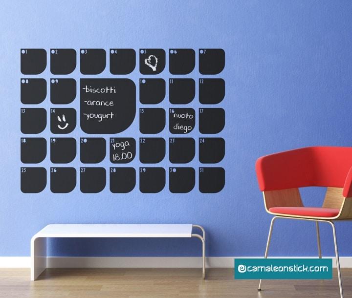 lavagna calendario adesiva