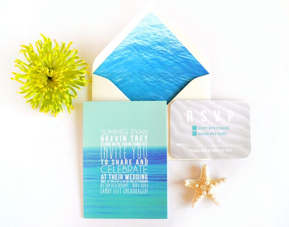 Partecipazioni con mare blu