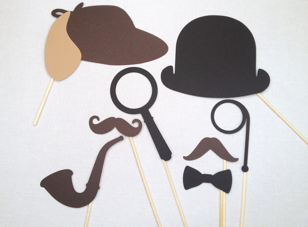Party props vintage Sherlock Holmes