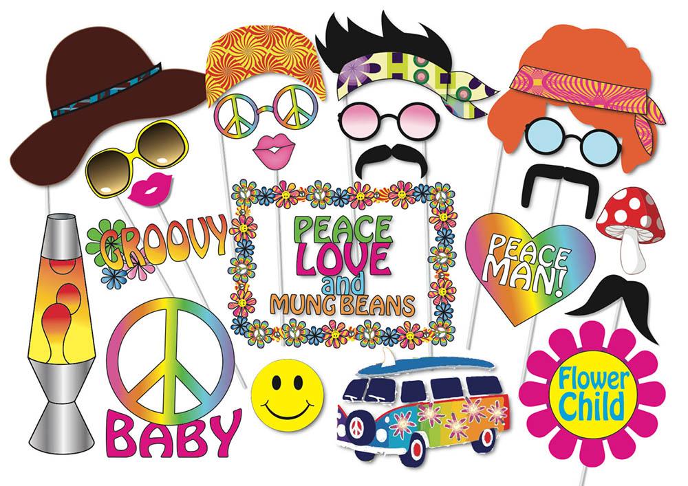 Party props vintage hippie