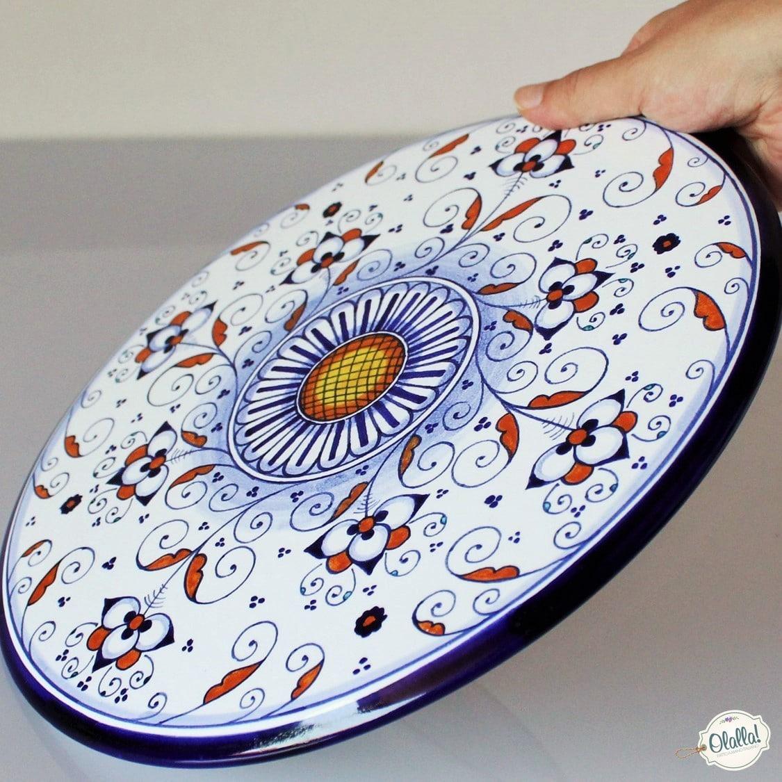 Alzata Porta Torta in Ceramica Dipinta a Mano con Decoro ...