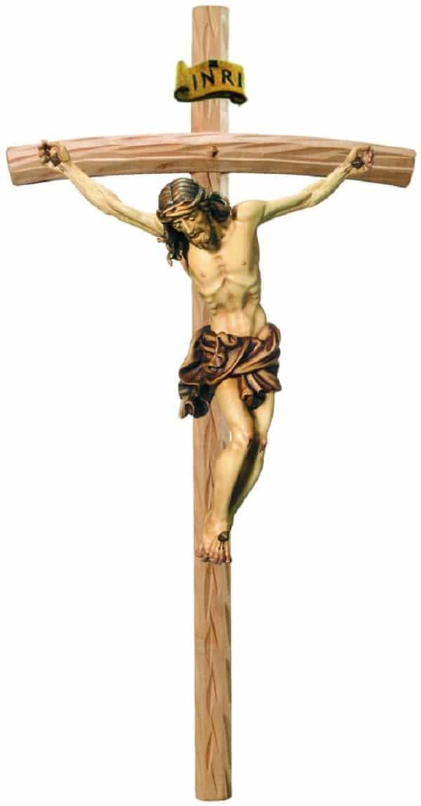 Crocifisso classico in legno dell'Alto Adige