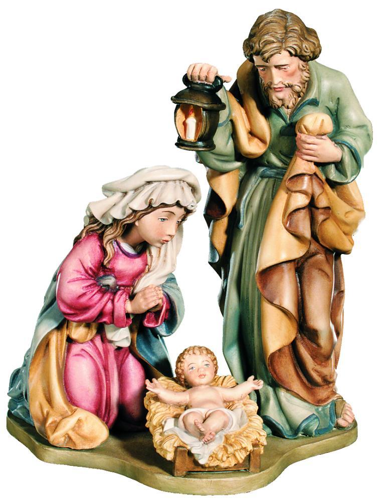 Famiglia sacra classica in legno dell'Alto Adige