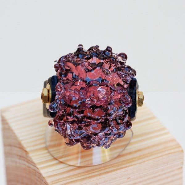 anello-in vetro di murano fatto a mano