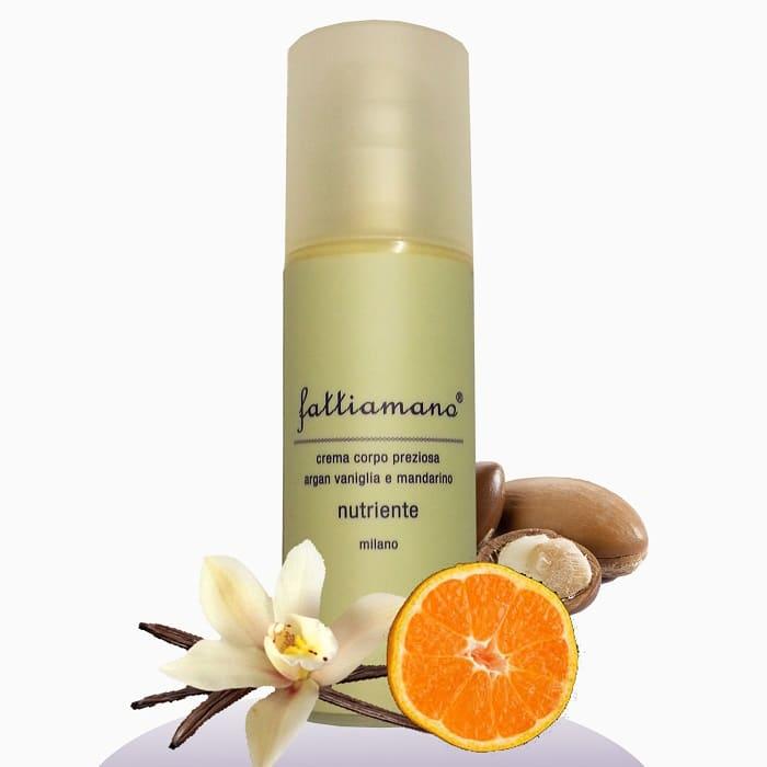 Crema naturale per il corpo all'argan, vaniglia e mandarino.