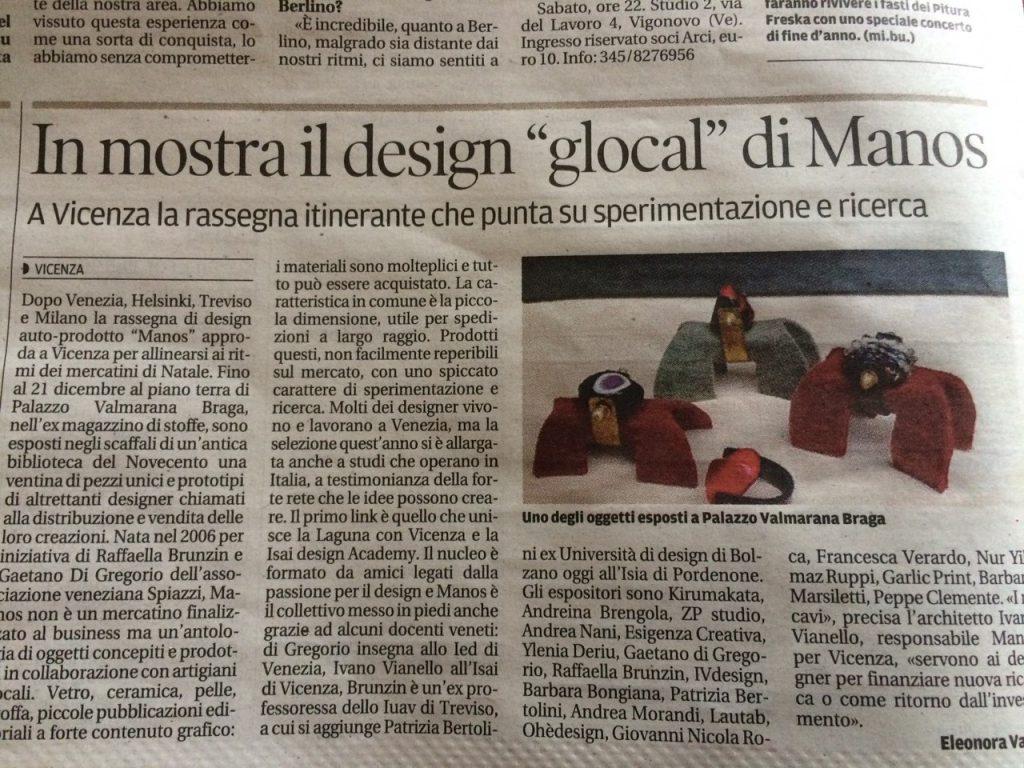 Articolo comparso su la Tribuna di Venezia, Natale 2014