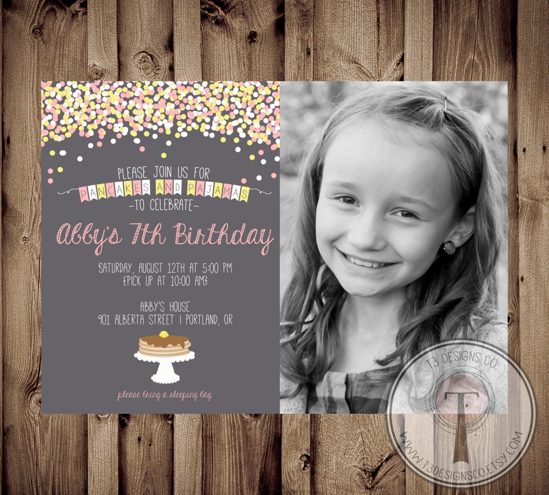 Biglietto di invito per compleanno bambina