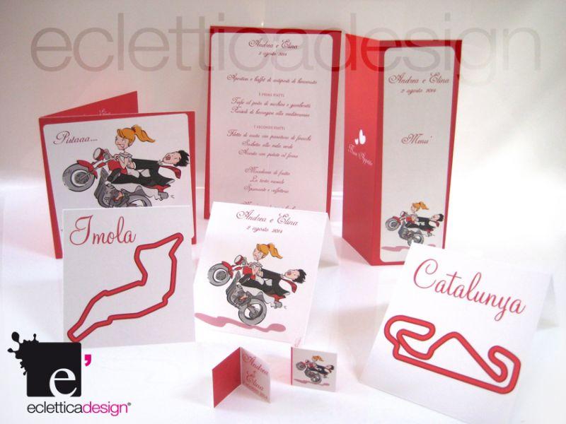 Set coordinato matrimonio a tema moto