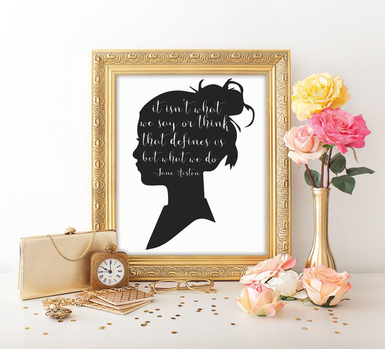 Stampa con citazione di Jane Austen