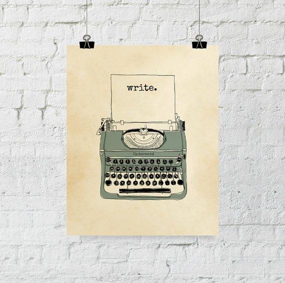 Stampa con macchina da scrivere vintage