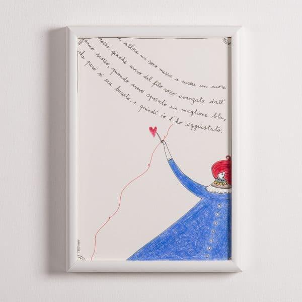 Illustrazione – E Allora Mi Sono Messa a Cucire un Cuore Rosso