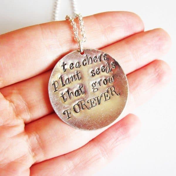collana regalo per maestra personalizzata