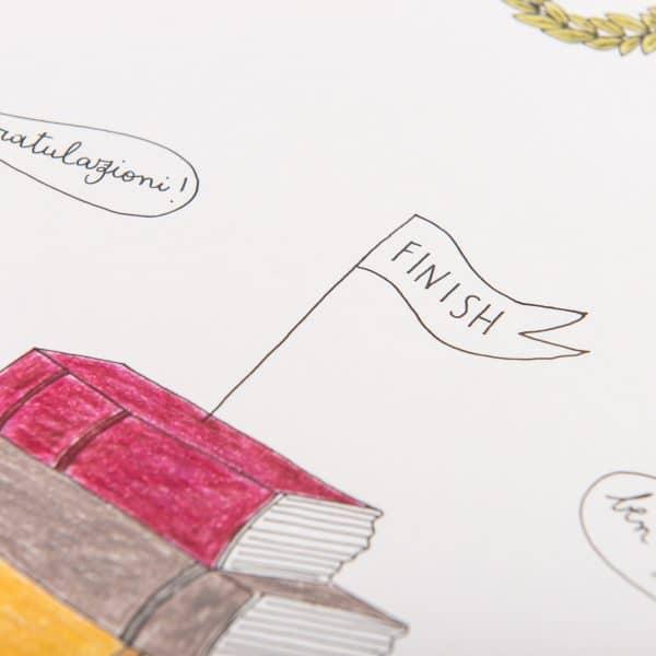 Illustrazione Personalizzata per Festeggiare la Laurea