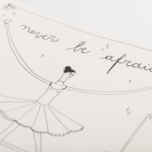 illustrazione never be afraid