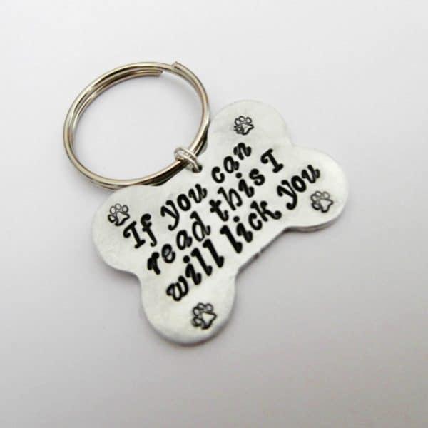 targhetta per cane o gatto personalizzabile in metallo