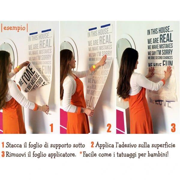adesivi murali istruzioni