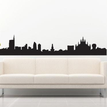 adesivi-murali_Skyline-di-Milano
