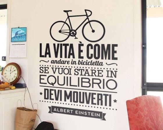 adesivo citazione bicicletta