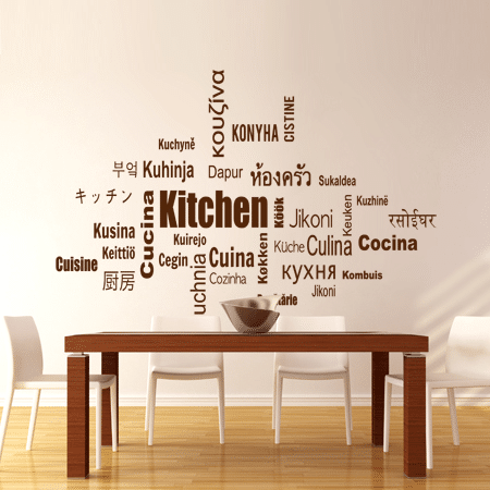 Adesivo Murale Fatto A Mano Kitchen Nel Mondo Olalla