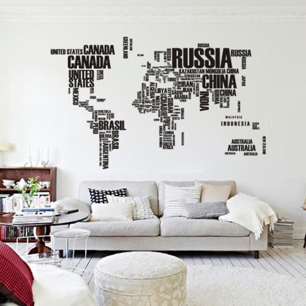 adesivo murale mappa