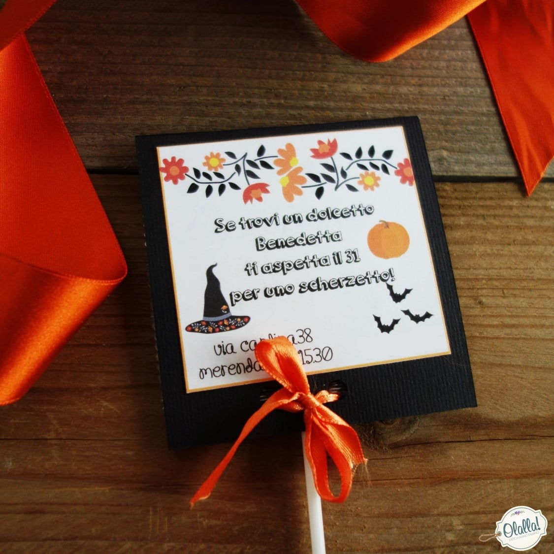 Invito Per Festa Di Compleanno Bambini Tema Halloweeen Porta Lecca