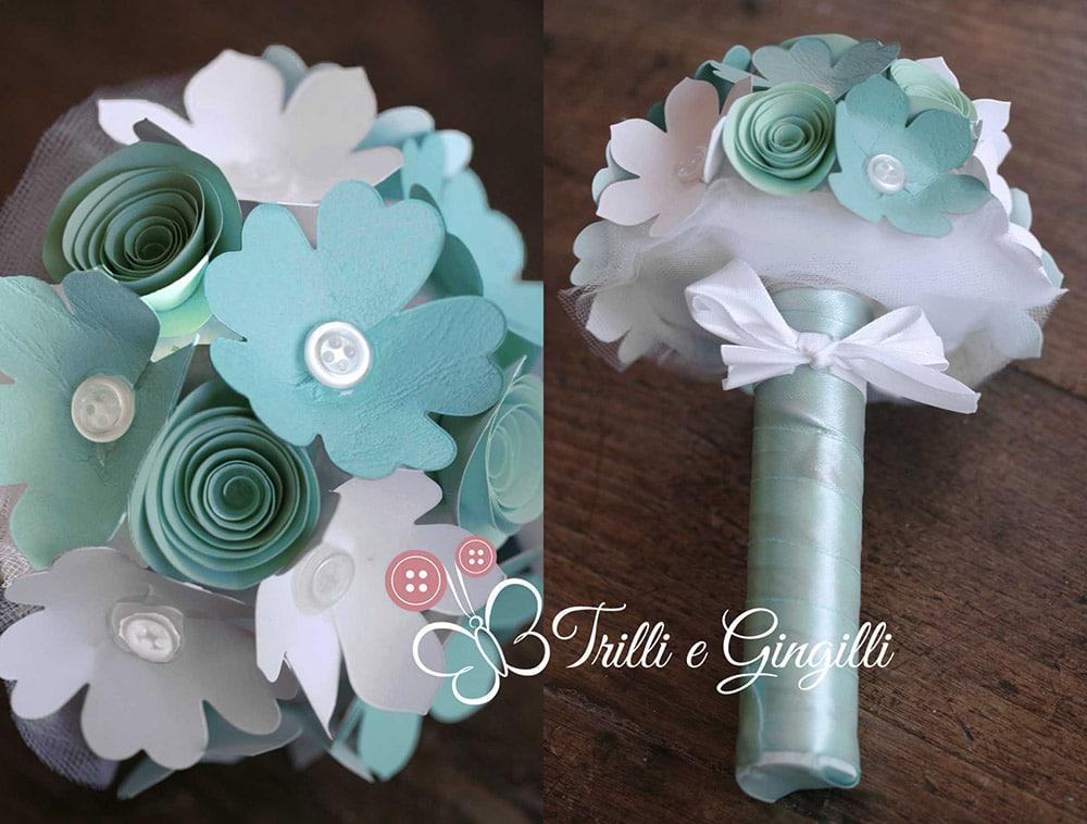 Bouquet da lancio in carta tiffany