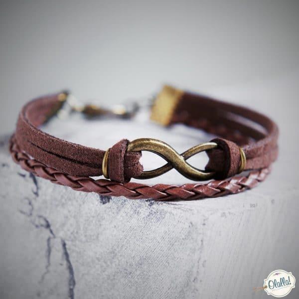braccialetto-simbolo-infinito-in-pelle-fatto-a-mano