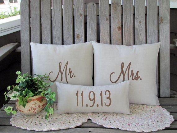 cuscino romantico con data delle nozze
