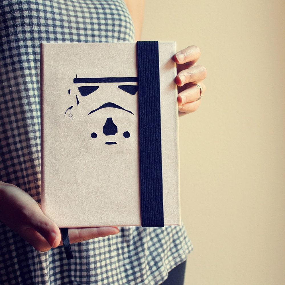Copertina per quaderno di Star Wars fatta a mano