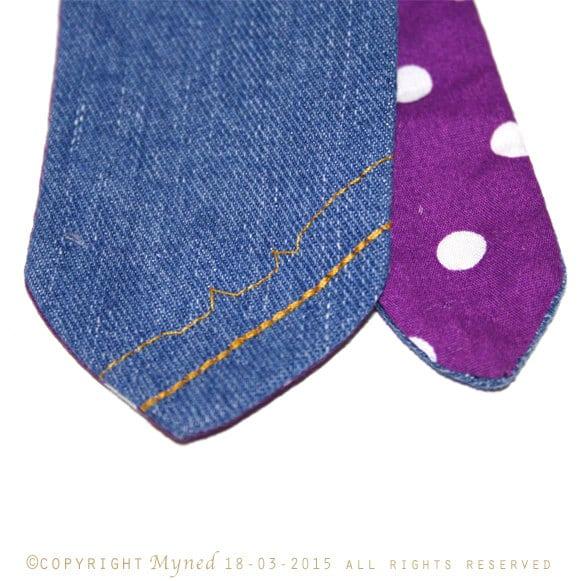 Cravatta in jeans denim fatta a mano