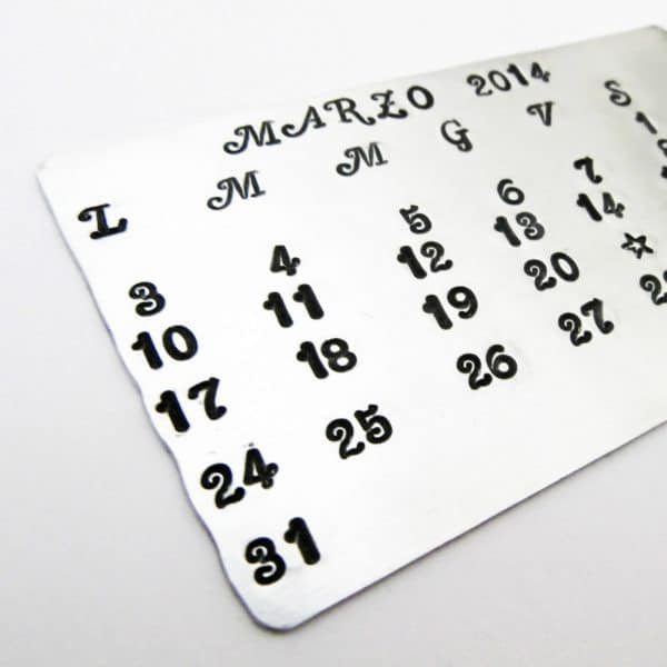 inserto per portafoglio commemorativo data personalizzabile in metallo