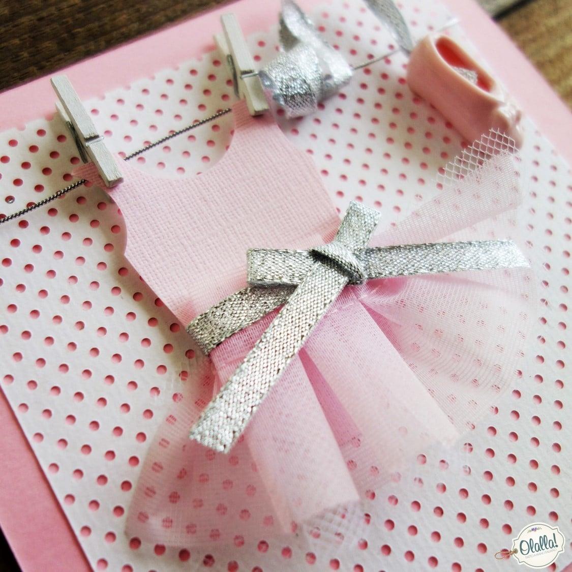 Favoloso Biglietto Invito per Festa di Compleanno Bambina - La Ballerina  XR33