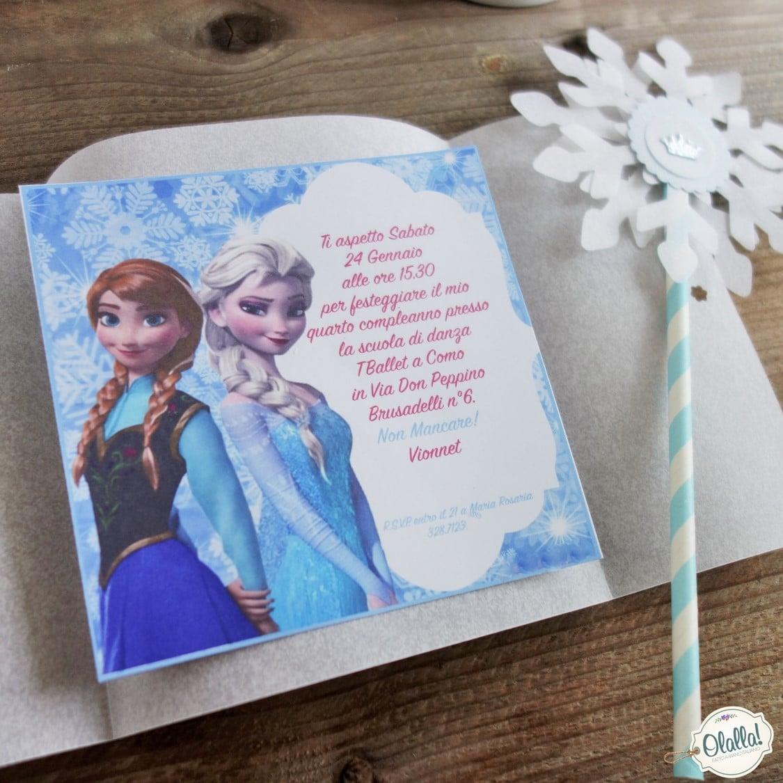 abbastanza Invito per Festa di Compleanno a Tema Frozen | Olalla OU61