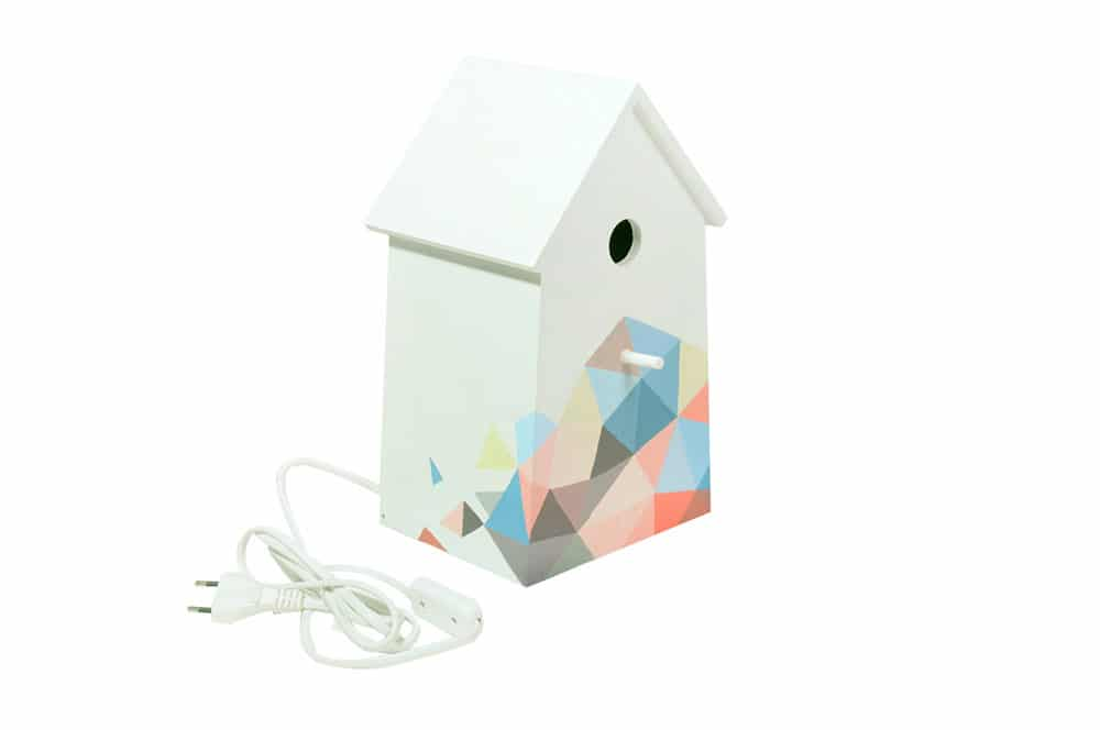 Lampada per cameretta a forma di casetta per gli uccellini