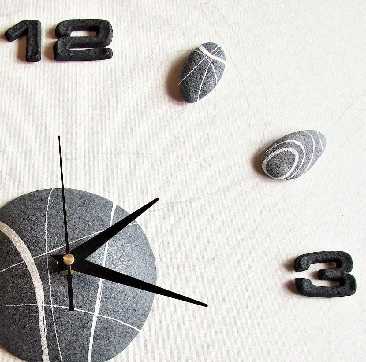 Orologio da parete stile moderno con effetto pietra for Orologi parete moderni