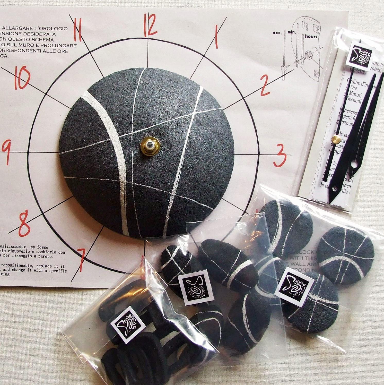 Eccezionale Orologio da Parete Stile Moderno con Effetto Pietra - Linea Sassi  EJ73