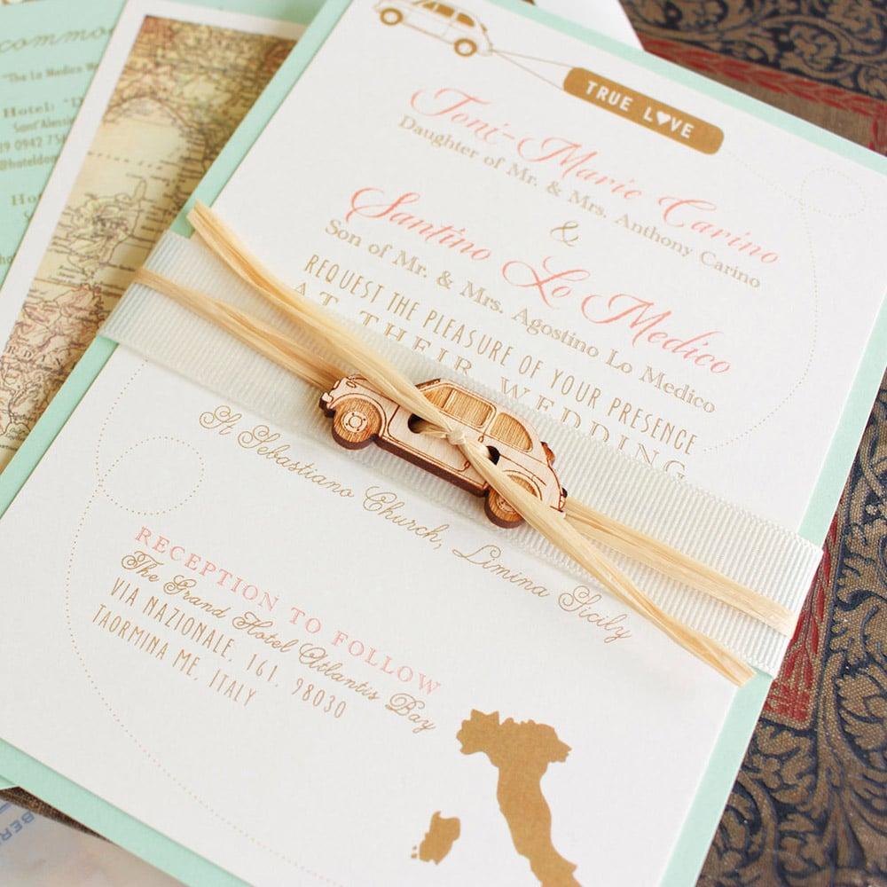 Matrimonio Tema Italia : Partecipazioni perfette per un matrimonio a tema