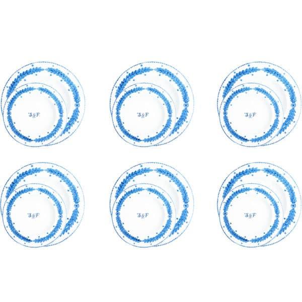 piatti-ceramica-fatti-mano-personalizzati-iniziali-foglia-azzurra