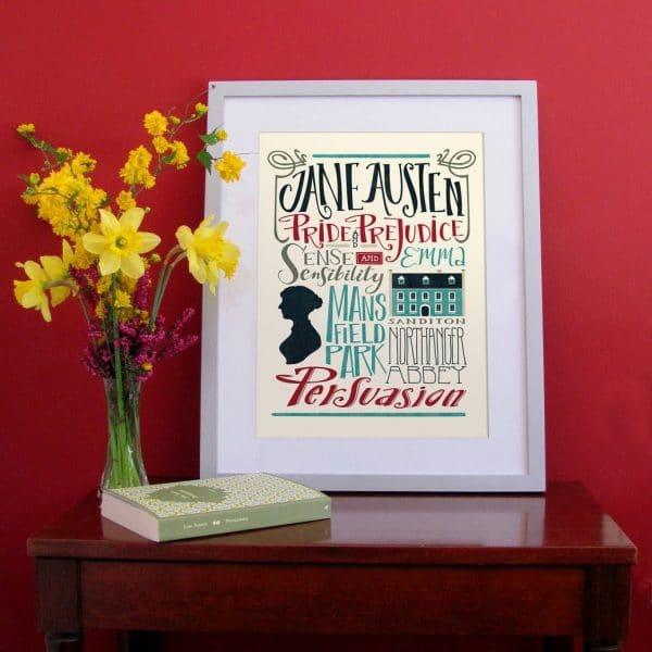 poster-illustrazione-jane-austen-bibbliografia