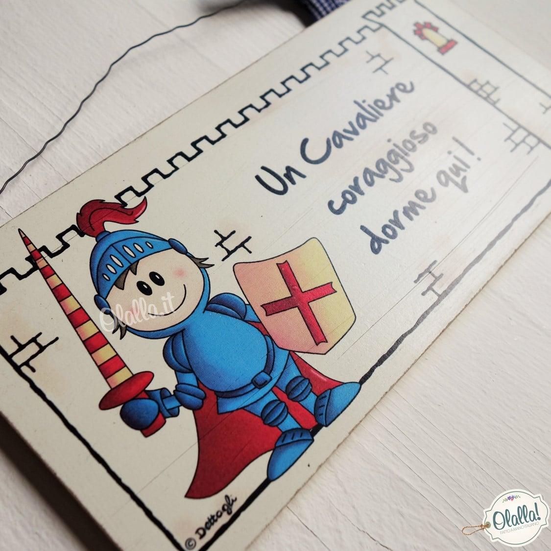 Favoloso Targhetta Personalizzabile con Il Nome per Cameretta da Bambino  ZC69