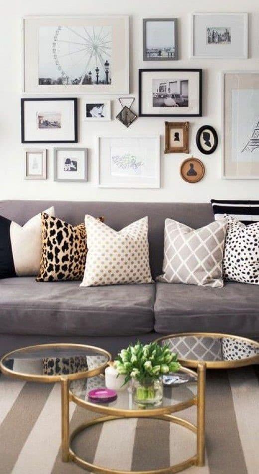 Che illustrazioni utilizzare per decorare la parete sopra il divano olalla - Decorare parete dietro divano ...