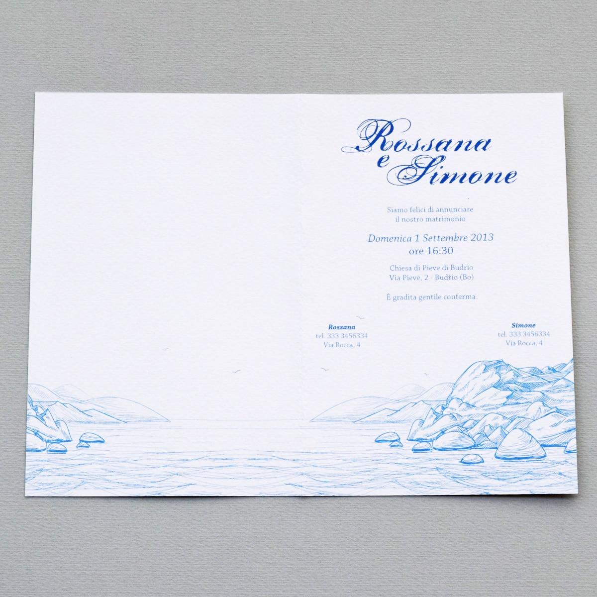Partecipazioni Matrimonio A 0 50 Centesimi.Partecipazione Di Nozze Il Faro Olalla