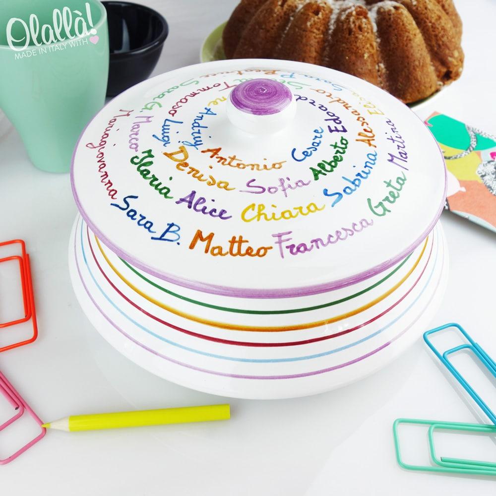 Regali Di Natale Per Maestre.Biscottiera In Ceramica Personalizzata Idea Regalo Per Maestra O Insegnante Olalla