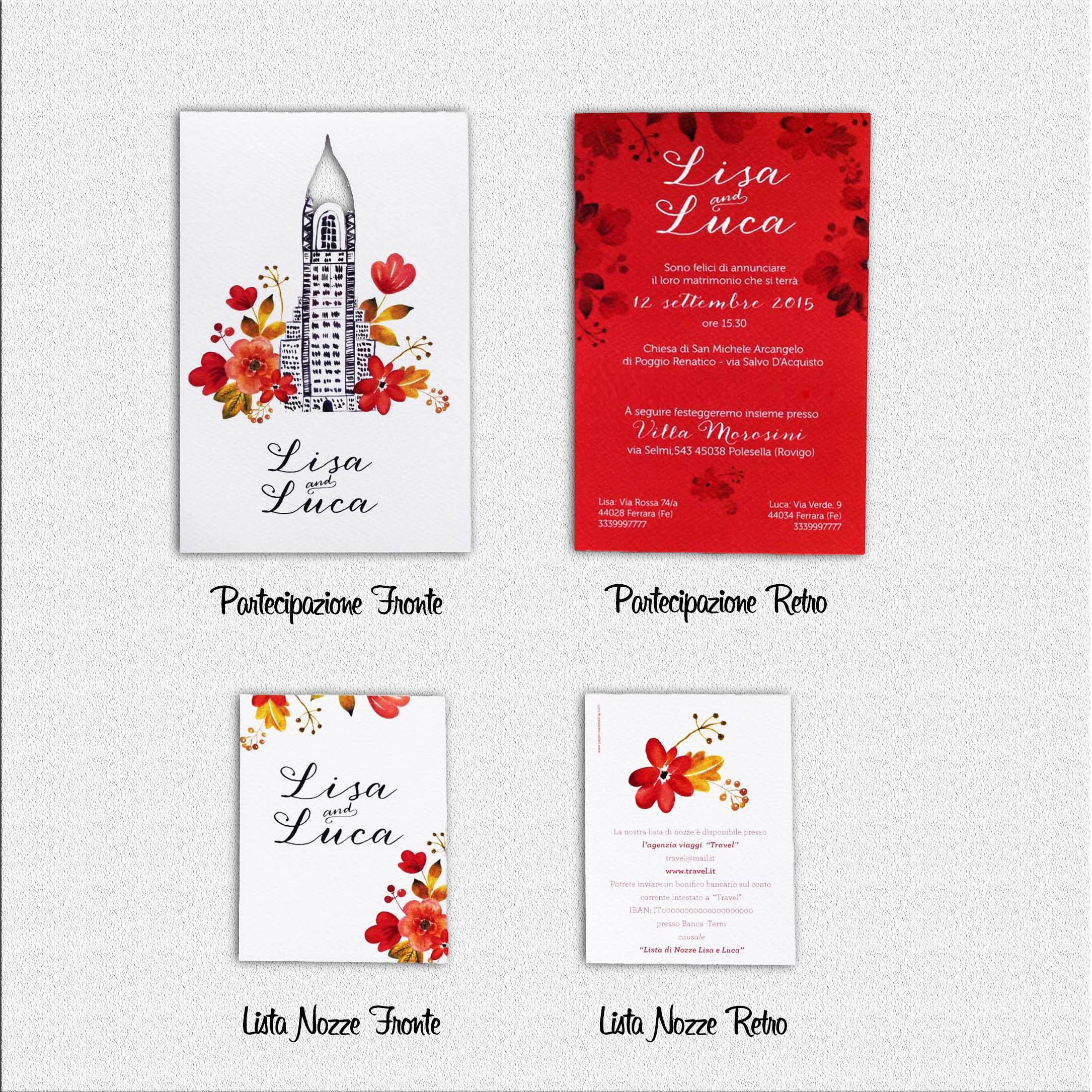 Segnaposto Matrimonio New York.Partecipazione Di Nozze I Love New York Olalla