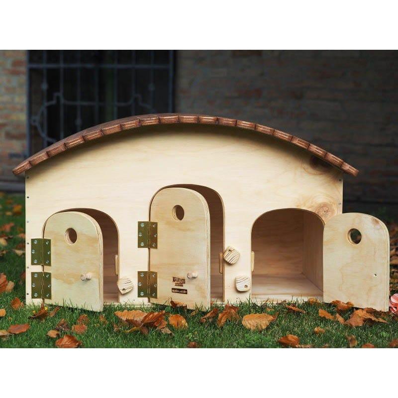 Cuccia da 3 4 posti in legno motel per gatti olalla for Cucce per gatti da esterno coibentate